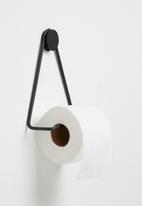 Smart Shelf - Archie toilet roll holder - black