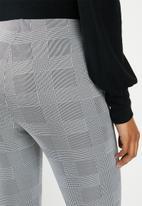 edit - Ponti pinched seam pull on legging - black & white