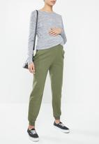 Cotton On - Maternity cross over front long sleeve top - grey twist