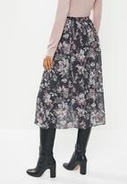 edit - Chiffon midi skirt - black