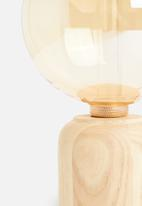 Sixth Floor - Rn natural wood table lamp - brown