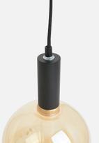 Sixth Floor - Rn simple pendant - black & gold