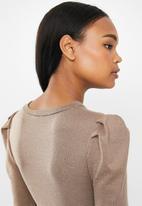 MILLA - Cut & sew top - brown