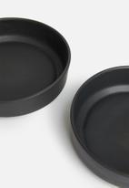 Urchin Art - Coal tapas bowl set of 2 - charcoal