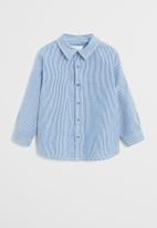 MANGO - Shirt henry - blue