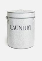 Storage Solutions - Felt laundry bag with lid - grey
