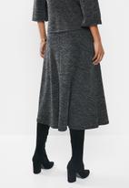edit - Textured aline skirt - grey & black