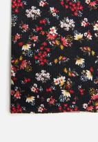 Sexy Socks - Dark ditsy floral print snood - multi