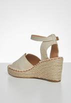 Miss Black - Letaba wedge heel - ivory