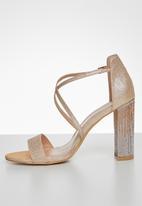 Miss Black - Zama 2 block heel - rose gold
