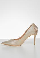 Miss Black - Bold stiletto heel - rose gold