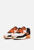 Nike - Air Max 90 Premium - sail / safety orange-black-gum med brown