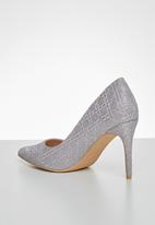 Miss Black - Apolo heel - silver