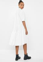 Missguided - Extreme oversized shirt smock maxi dress - white
