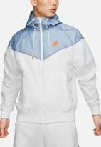 Nike - Nsw he wind resistant hooded jacket - white & blue