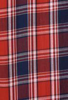 Superbalist - Barber regular fit long sleeve shirt - red & navy