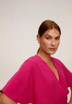 MANGO - Belt long jumpsuit - pink