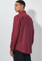 Superbalist - Barber regular fit long sleeve oxford shirt - burgundy