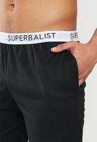 Superbalist - Slim fit knit lounge shorts - black