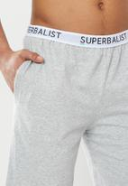 Superbalist - Slim fit knit lounge shorts - grey