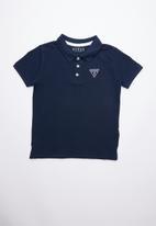 GUESS - Short sleeve guess golfer - blue