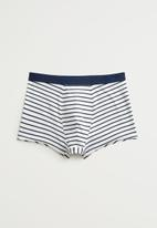 MANGO - Sailor boxer - navy & white