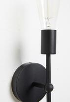Sixth Floor - Edison double wall light - black