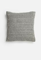 Sixth Floor - Willow woven cushion cover - grey