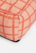 Sixth Floor - Diego floor cushion - coral & pink