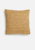 Sixth Floor - Willow woven cushion cover - natural