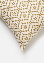 Sixth Floor - Waves printed cushion cover - mustard