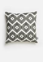 Sixth Floor - Tactile printed cushion cover - black