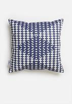 Sixth Floor - Gingham printed cushion cover - navy