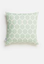 Sixth Floor - Repeat printed cushion cover - blue