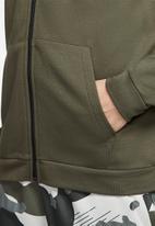 Nike - Dry full zip fleece hoodie - khaki