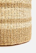 H&S - Seagrass round pouf - brown