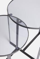 Excellent Housewares - Liam side table set of 2 - black