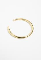 Matter of Fakt - Plain brass bangle - gold