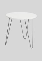 Excellent Housewares - Marble side table - white