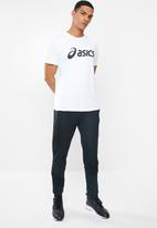 Asics - Silver Asics tee - brilliant white & performance black