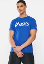 Asics - Silver Asics tee - blue & brilliant white