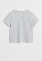 MANGO - T-shirt hippo - grey