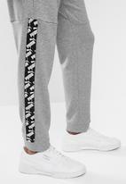 PUMA - Amplified trackpants - medium grey heather