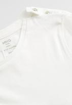 MANGO - T-shirt basi - white