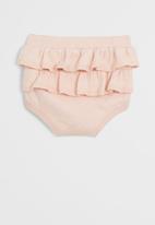 MANGO - Trousers frufru - rose