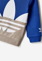 adidas Originals - Big trefoil crew - white & blue