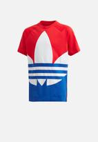 adidas Originals - Big trefoil tee -  blue & red