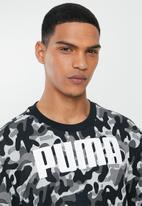 PUMA - Rebel camo crew top - puma black