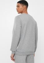 PUMA - Essential logo crew fleece sweat - grey heather