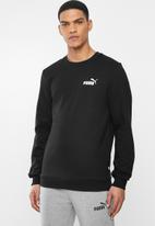 PUMA - Essential logo crew fleece sweat - puma black